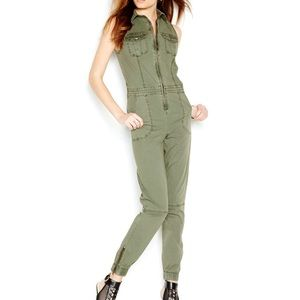 Guess Military Enzyme Stonewash Cargo Jumpsuit.